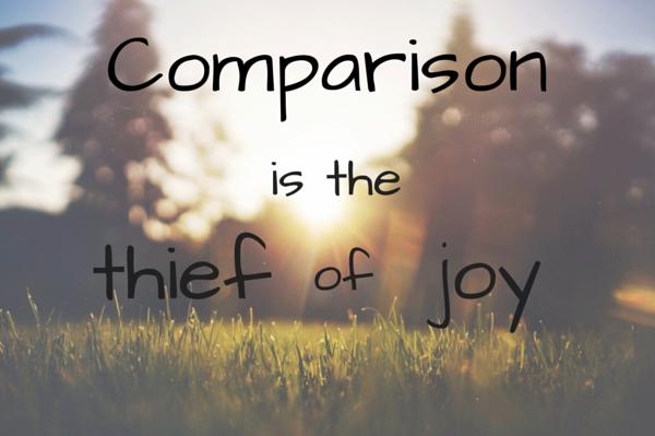 Comparisonis thethiefof joy